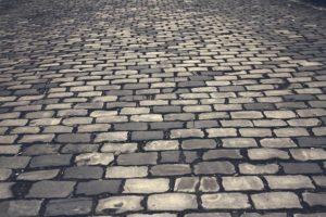 Rue de pavée à Caen