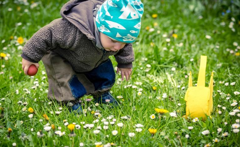 enfant qui cherche oeuf