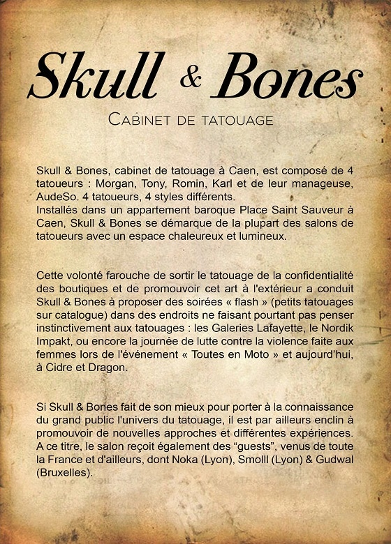 skull bones cabinet de tatouage caen. Black Bedroom Furniture Sets. Home Design Ideas